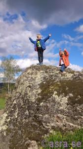 Det här är bara en sten, sen gick vi på berget!