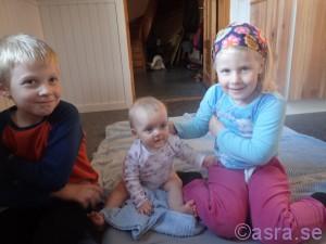 Alexander, Heidi och Amanda